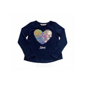 H&M Navy Blue Flip Sequin Shirt Size 6-8 Years
